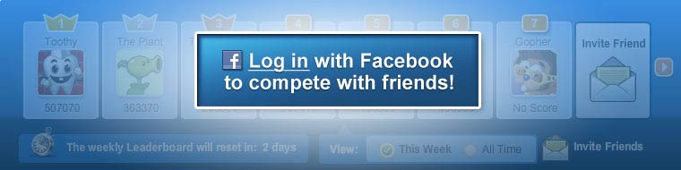 Log in with Facebook to compete with friends