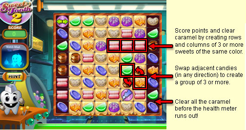 how to play the sweet tooth game
